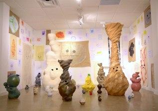 Stoneware, Paper, Installation, 2015