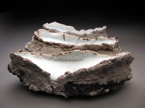 "Porcelain, Glaze, Wire, 3 pcs. each approx. 5""x13""x5"", 2012"