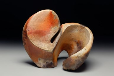 Wood fired stoneware with slips, 16 x 17 x 12, 2018