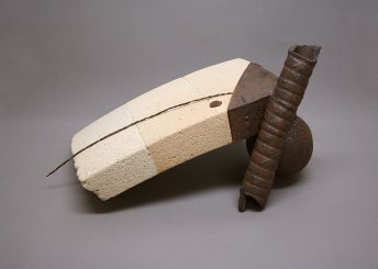 23x29x39 cm., stoneware, glaze, refractory bricks, metal, 2011