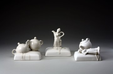 2010. Porcelain, glaze. 46 x 10 x 15 cm. Slip-cast and assembled, 1250°C oxidation.