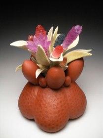 """2013, ceramic & glass, 20"""" x 13"""" x 10"""""""