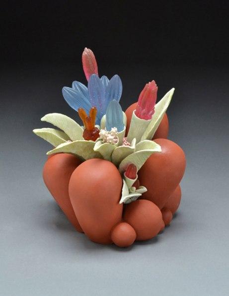 """2011, ceramic & glass, 12"""" x 13"""" x 14"""""""