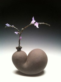"2013, ceramic, glass & bronze, 17"" x 10"" x 6"""