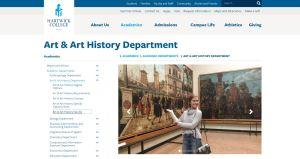 hartwick college website screenshot