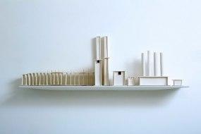 Dimensions: H 23 X W 80cm, Material: Porcelain, Shelf: Metal