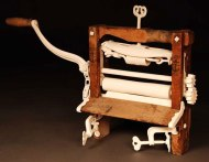 "America's Ringer, Porcelain, Wood, H21""x W34""x D6"""