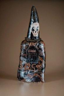 "Suicide Hotline, ceramic, wood soda fired, 50x22x12"""