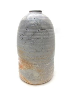 "War Crock (#forEhrenTool), ceramic, wood soda fired, 22x9x9"", 2013"