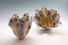"""Judith De Vries, """"Delft blue, tulips"""""""
