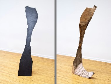 milled maple, graphite, plywood, insulation foam, masonite, 76 x 18 x 32 in., 2011