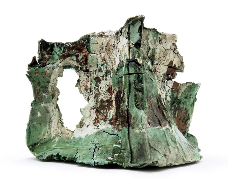 2014, Various reclaimed ceramic materials; 8″ x 10″ x 10″