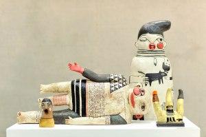 100 X 50 X 65cm, Chamotte clay, high-firing glaze, decal, Handbuild, 2013