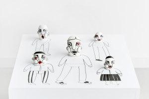 14 X 70 X 70cm, Porcelain, high-firing glaze, underglaze, Handbuild, 2016