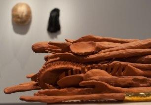 terra cotta, glaze, gold luster, 4.5 in x 13 in x 17 in, 2012