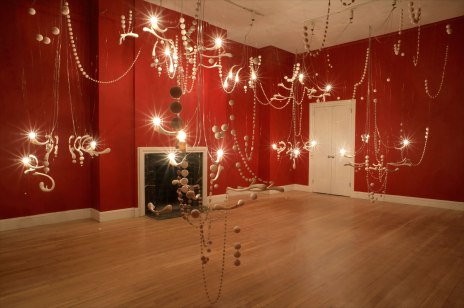 2009, porcelain, wire, paint, electrical hardware, 24'W x 17'D x 17'H