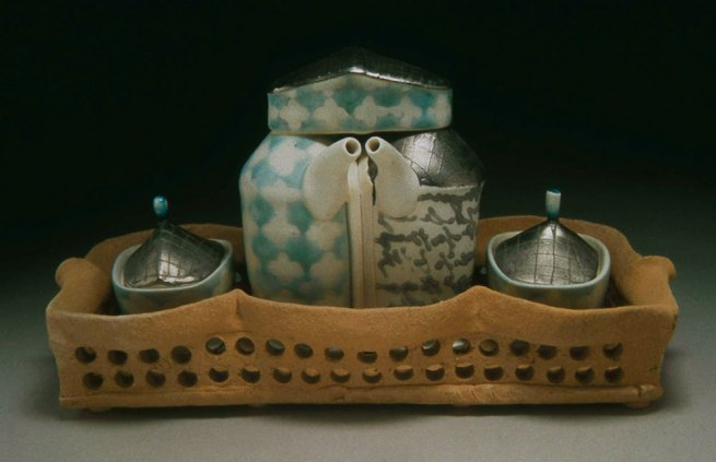 """porcelain, thrown and altered, cone 6 soda firing neutral environment, 5""""x4""""x4"""", photo: Lilly Zuckerman"""