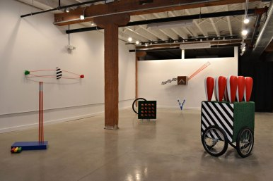"Installation View of ""Charting Course"" at the Pine Box Art Center"