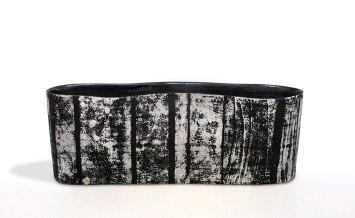 "stoneware vessel, 21.5 x 5 x 8"" 2013"