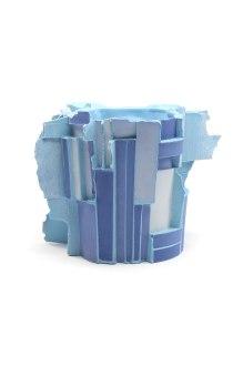 Slipcast, Porcelain, cone 6 Oxidation, 5in x 8in x 8in