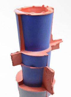 Slipcast, Porcelain, cone 6 Oxidation, 11.5in x 4.5in x 4.5in