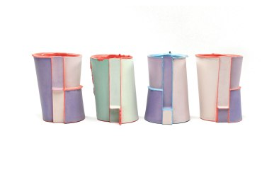 Slipcast, Porcelain, cone 6 Oxidation, 5in x 3in x 2.5in each