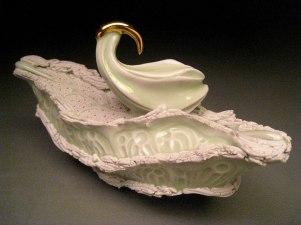 """Porcelain, 8""""H x 13""""W x 7""""D"""