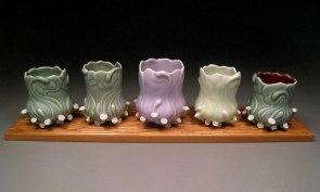 "Porcelain, 5""H x 3.5""W x 3.5""D (each)"