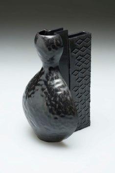 "2015. Slip cast porcelain using modular mold system, appliqué, 9"" x 6"" x 14″"
