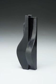 """2015. Slip cast porcelain using modular mold system, overglaze decals, 6"""" x 6"""" x 18″"""
