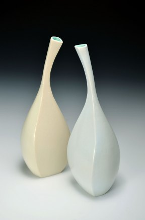 porcelain with flocking, 4x5x10 inches each, 2014