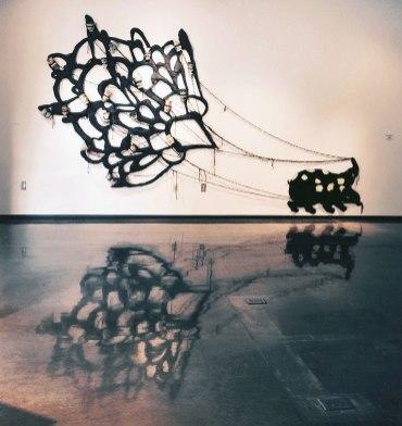 """Silk, Porcelain, Yarn, 2015, 10'X20'X5"""""""