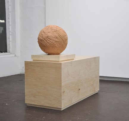 100 lbs. Café Cinco clay, plywood, 2015