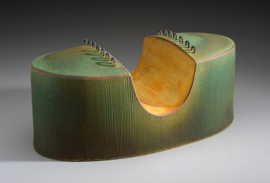 2013, slab-constructed terracotta, low-fire oxidation, 5.5 x 13 x 6 in.