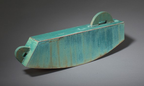 2013, slab-constructed terracotta, low-fire oxidation, 8.5 x 20.5 x 2.75 in.