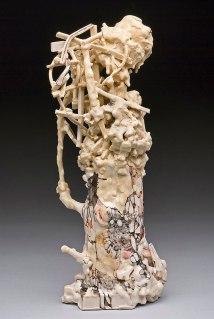 """porcelain, underglaze, glaze, 3"""" x 3.5"""" x 8.5"""", 2011"""