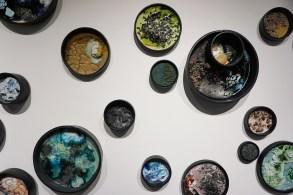 """2017, Ceramic and mixed media, 120"""" x 70"""" x 6"""""""