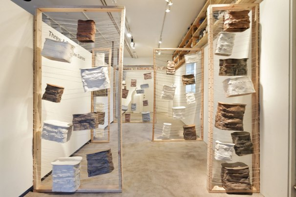 Ceramics, Wood and Thread, 16' x 9' x 8', 2017
