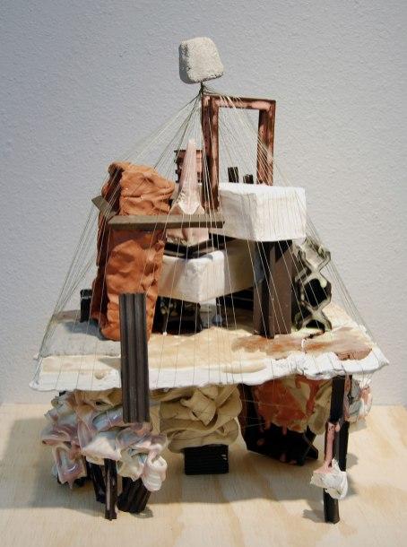 """Ceramics, Wood, Metal and Thread, 22""""x 16""""x 12"""", 2016"""