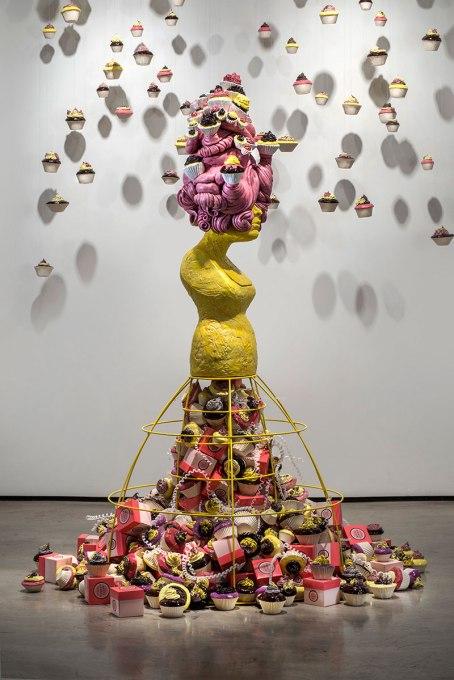 "2012, 72"" x 60"" x 60"", Ceramic, steel"