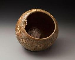 stoneware, cast porcelain, glass, 16x16x17, 2015