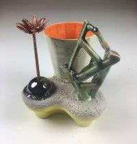 "2018, Ceramic , epoxy glue, plastic, paint, 4""x3.5""x4"""
