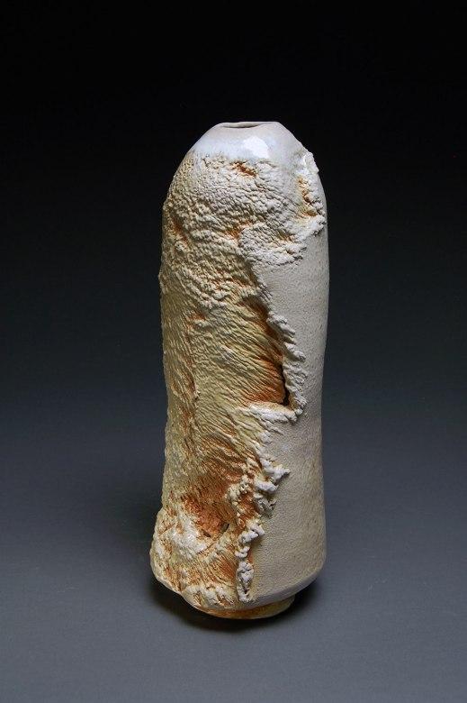 "Wood-fired stoneware, 15""x6""x6"""