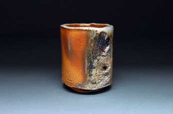 "Wood-fired white stoneware, 4""x3.25""x3.25"""