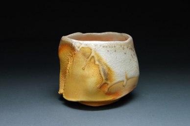 "Wood-fired white stoneware, 3.5""x4""x4"""