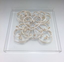 "porcelain, glaze, acrylic base, 11 x 11 x 3.5"", 2016"