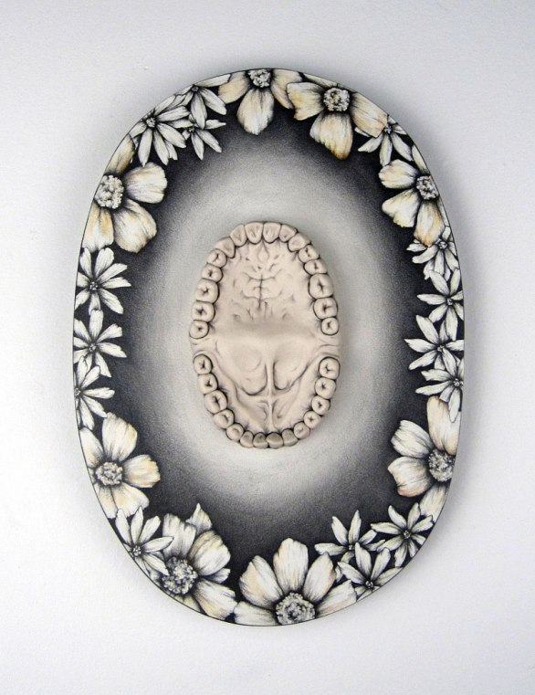 Porcelain, Underglaze, Drawing on Wood, 2013