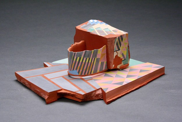 Earthenware and stoneware, low-fire glazes, 14.5 x 10 x 4.5 inches, 2018