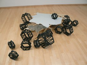 "19"" H, Dimensions Variable, Glazed Extruded & Assembled Ceramic, Painted Drywall, Mixed Media, 2011"