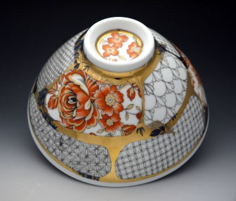 Porcelain, Glaze, China-Paint, Gold Luster, Decals, 9 x 4 inches